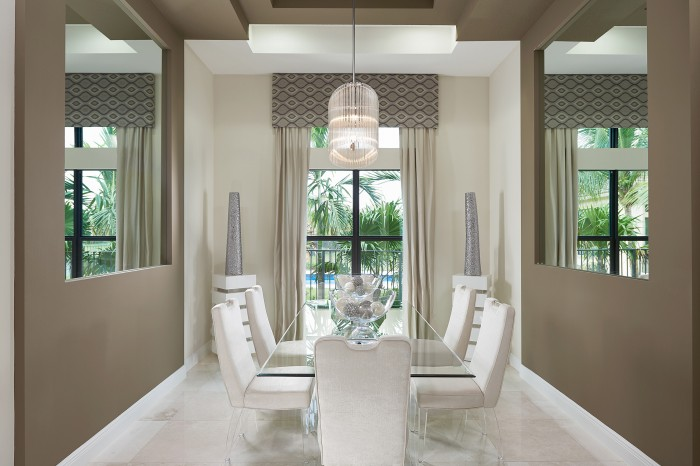 Landon Dining Room new homes Parkland Florida